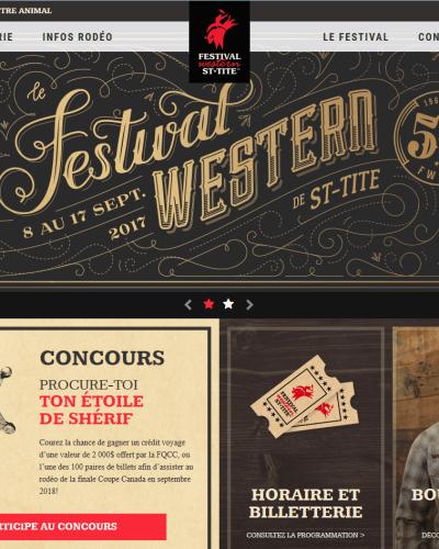 Festival western accueil